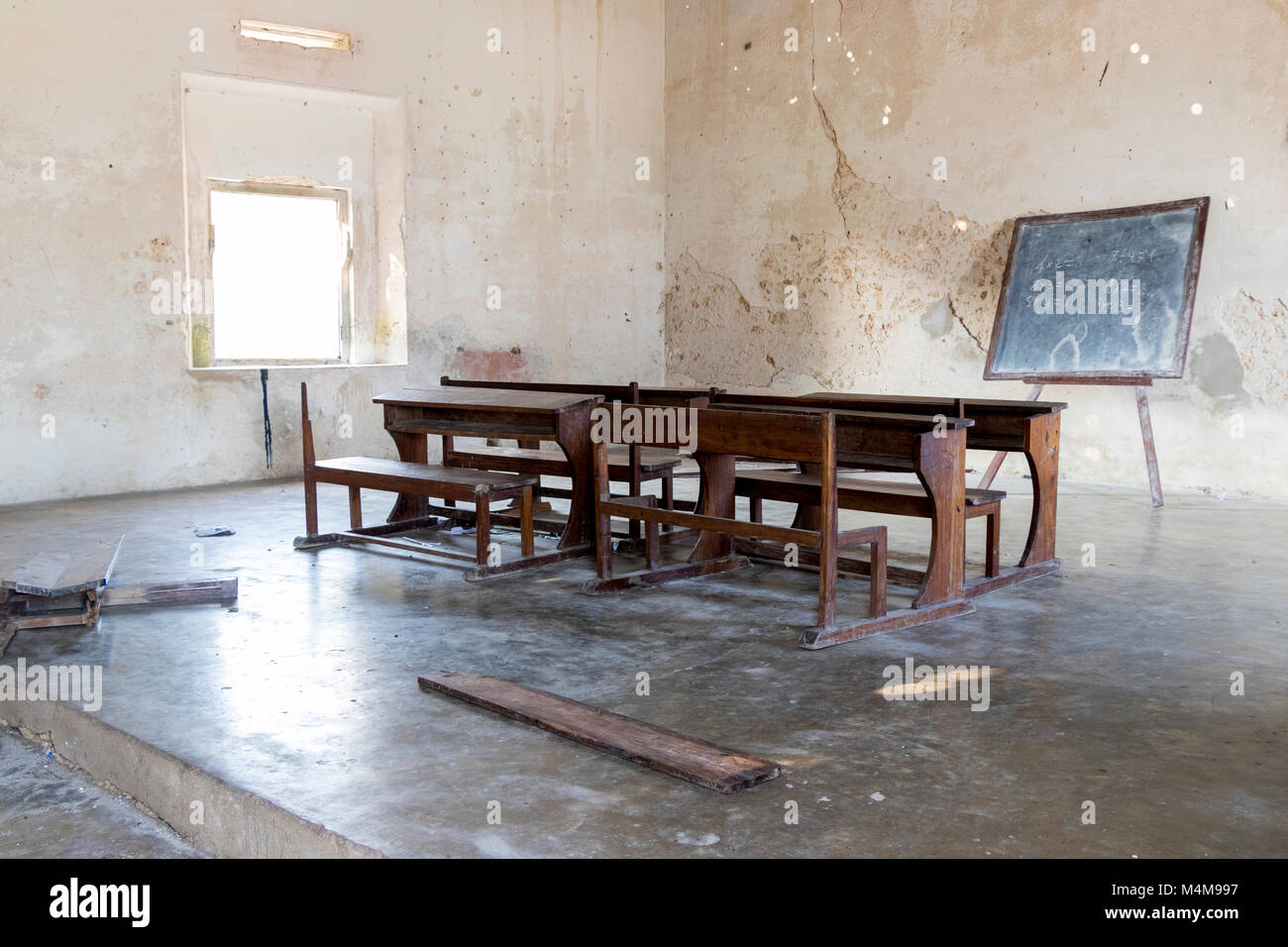 Rurali sparse Terzo Mondo in classe in Africa Immagini Stock
