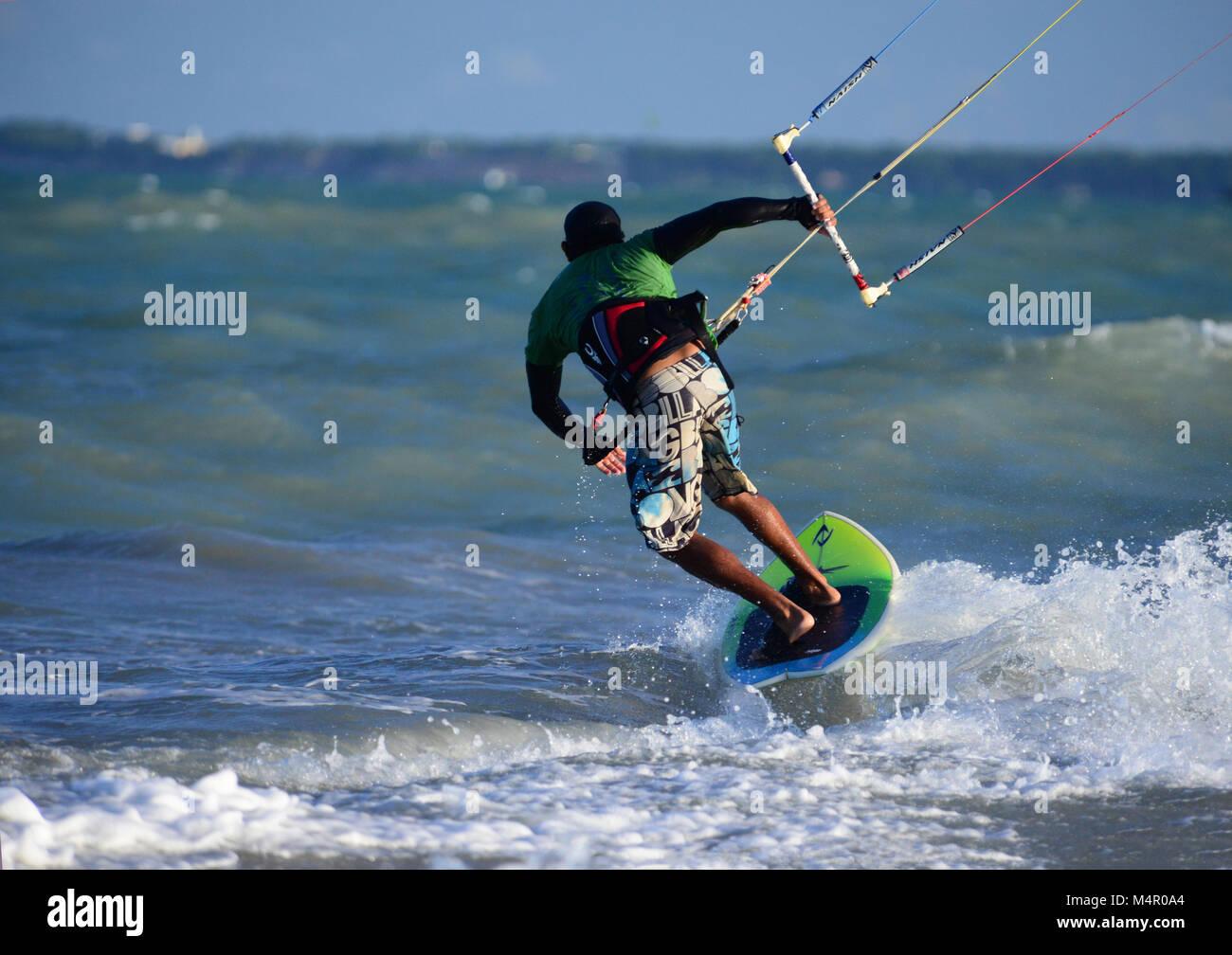 Corsi di Kite surf, Brasile Immagini Stock