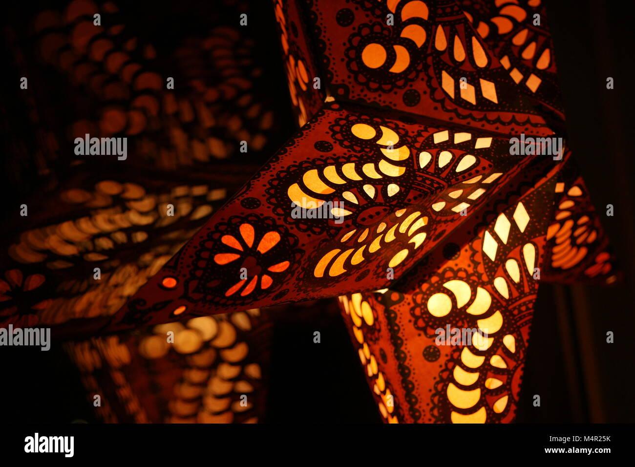 Stella Di Natale Luce.Stella Di Natale Luce Sospesa Lanterna Decorazione Foto Immagine