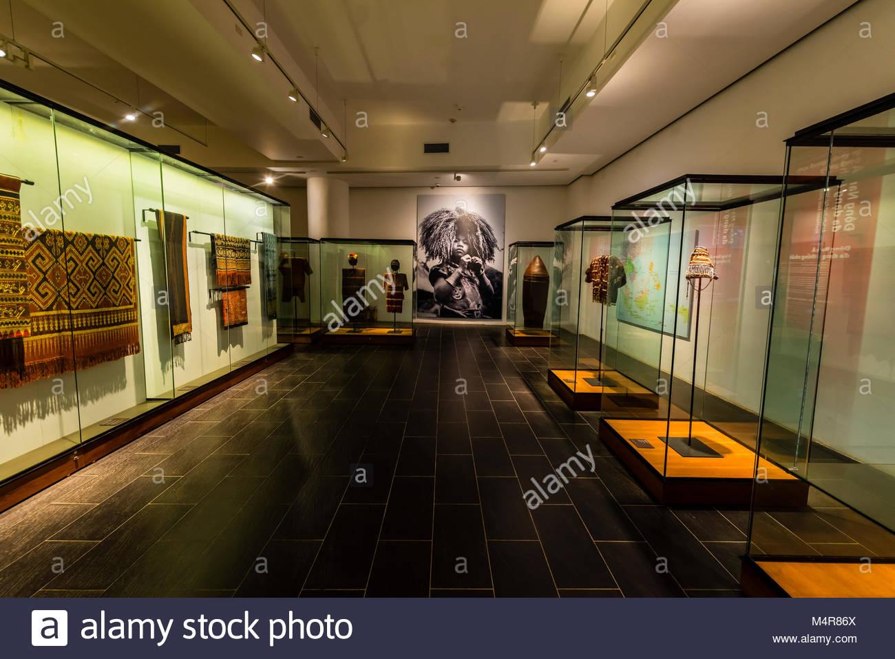 La mostra edificio dedicato al sud-est asiatico, cultura Vietnam Museo di Etnologia, Hanoi, Vietnam del nord. Immagini Stock