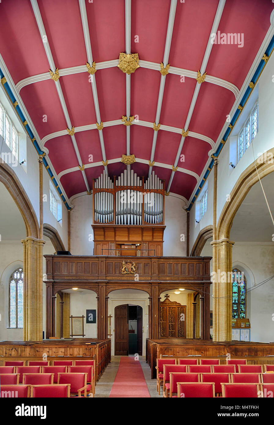 C19 gallery, ora pergamo St Andrews Chiesa, Wiveliscombe, Somerset Il Grade ii Listed, 1827-29 Immagini Stock