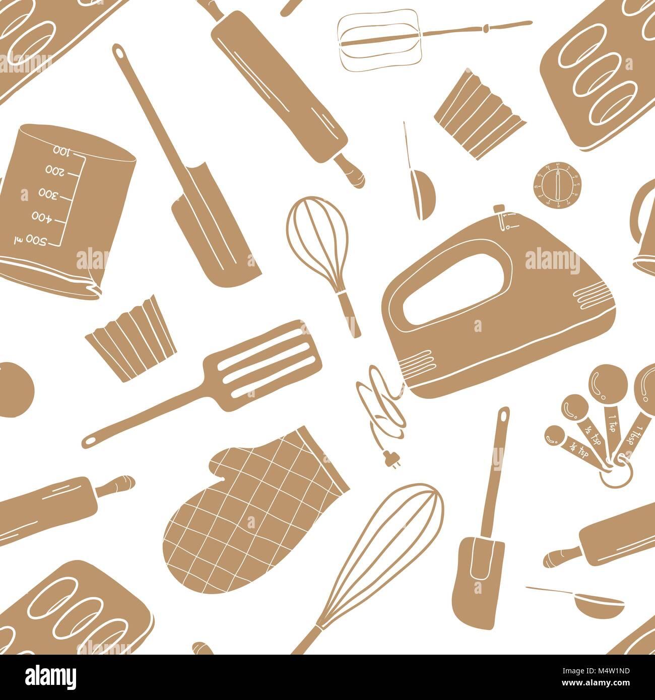 Modello senza giunture di strumenti di cottura in for Cucinare in inglese