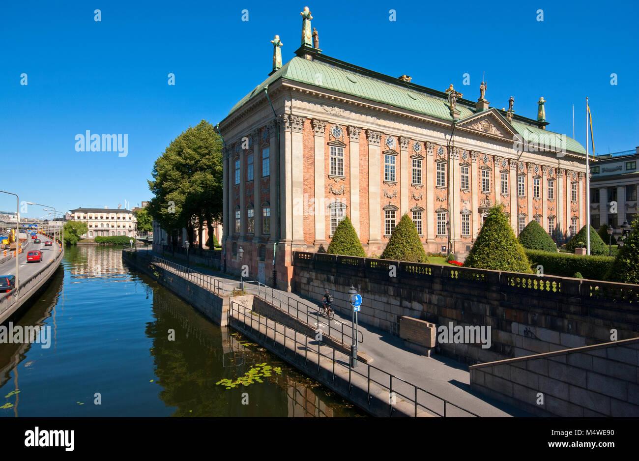 Riddarhuset (1641-1672), la Casa della Nobiltà, Stoccolma, Svezia Immagini Stock