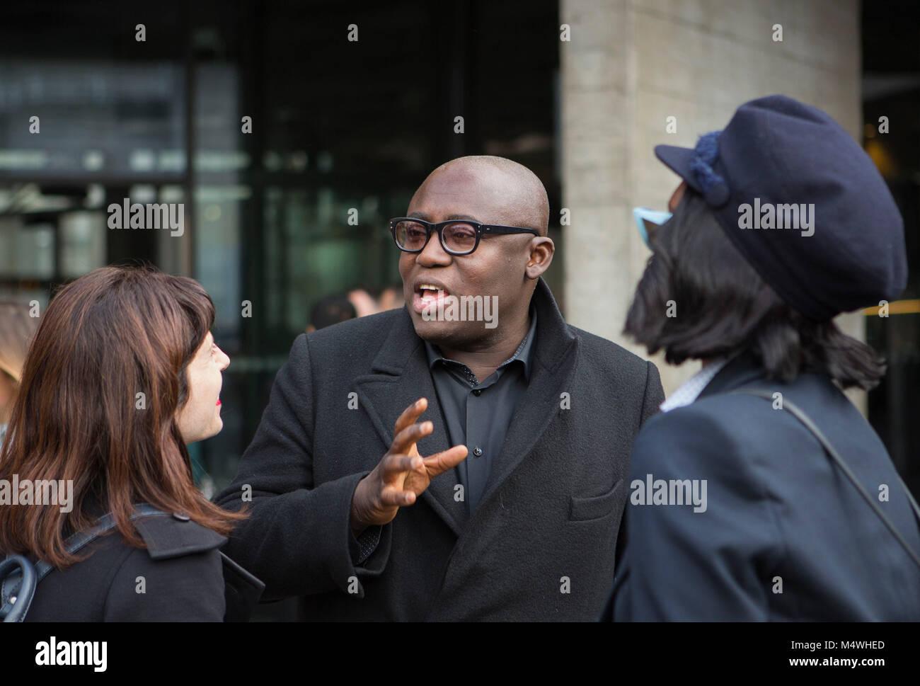 abdd43c4be British Vogue editor Edward Enninful dopo la Roland Mouret Autunno/Inverno  2018 London Fashion Week