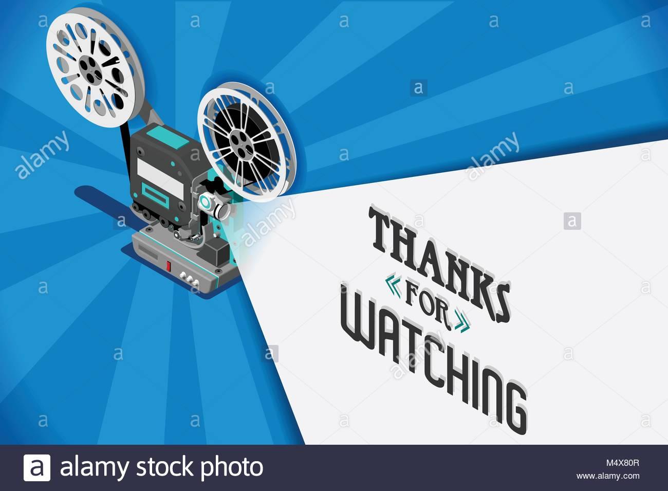 Cinema Titolo Film Concetto Dello Schermo Grazie Per Lattenzione