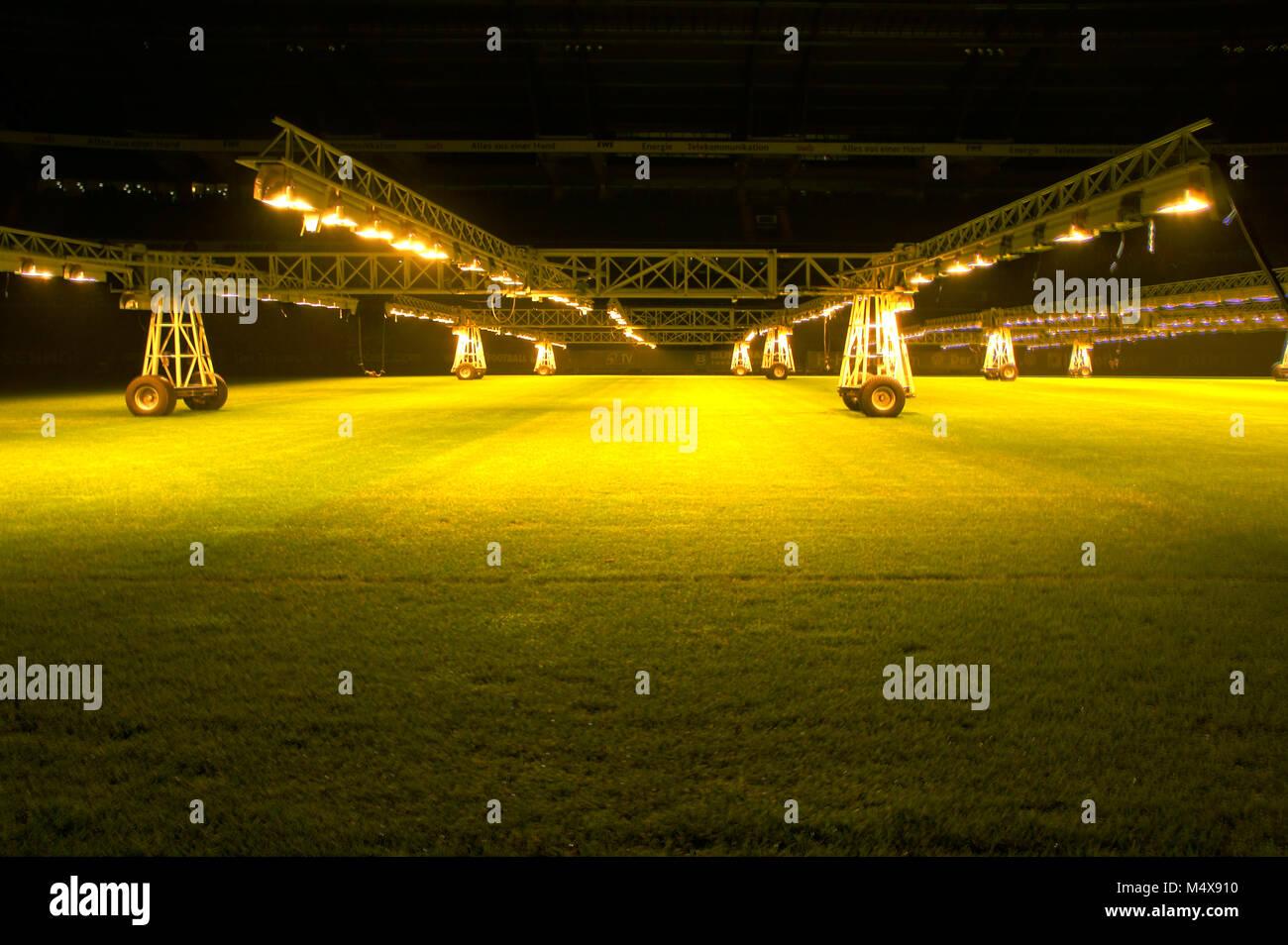 Weserstadion brema mobile crescono le lampade per la cura del