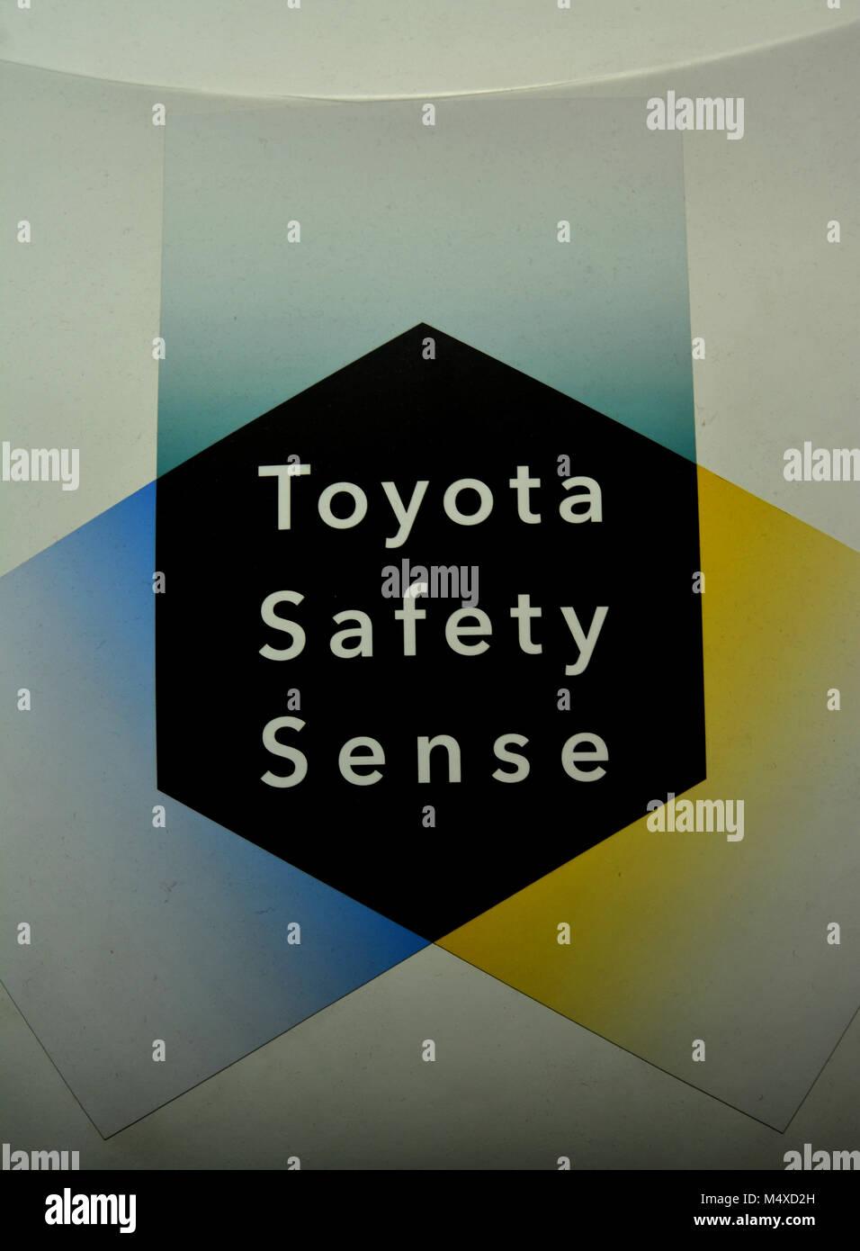 Toyota sicurezza Scheda di rilevamento Immagini Stock