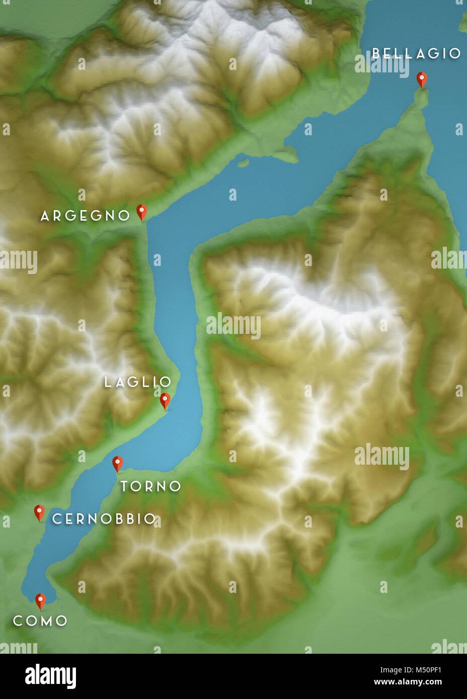 Cartina Geografica Lago Di Garda E Dintorni