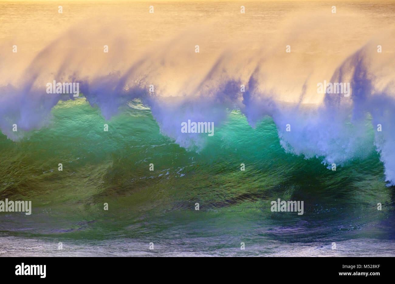 Onda, Oceano Atlantico,La Gomera,Isole Canarie,Isole Canarie,Spagna Immagini Stock
