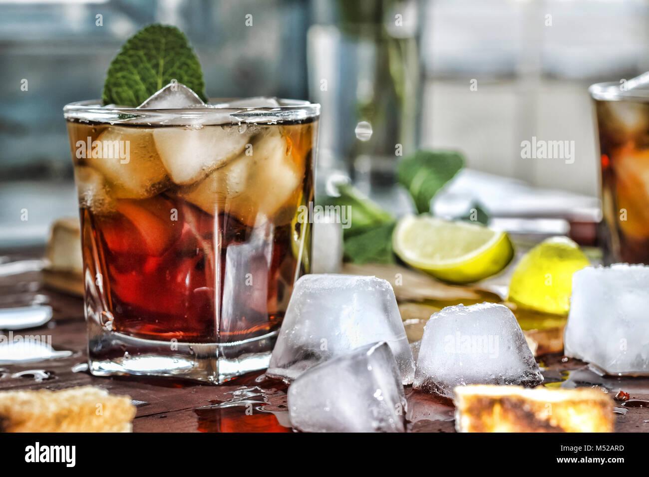 Il Rum ristoro bevanda alcolica Immagini Stock