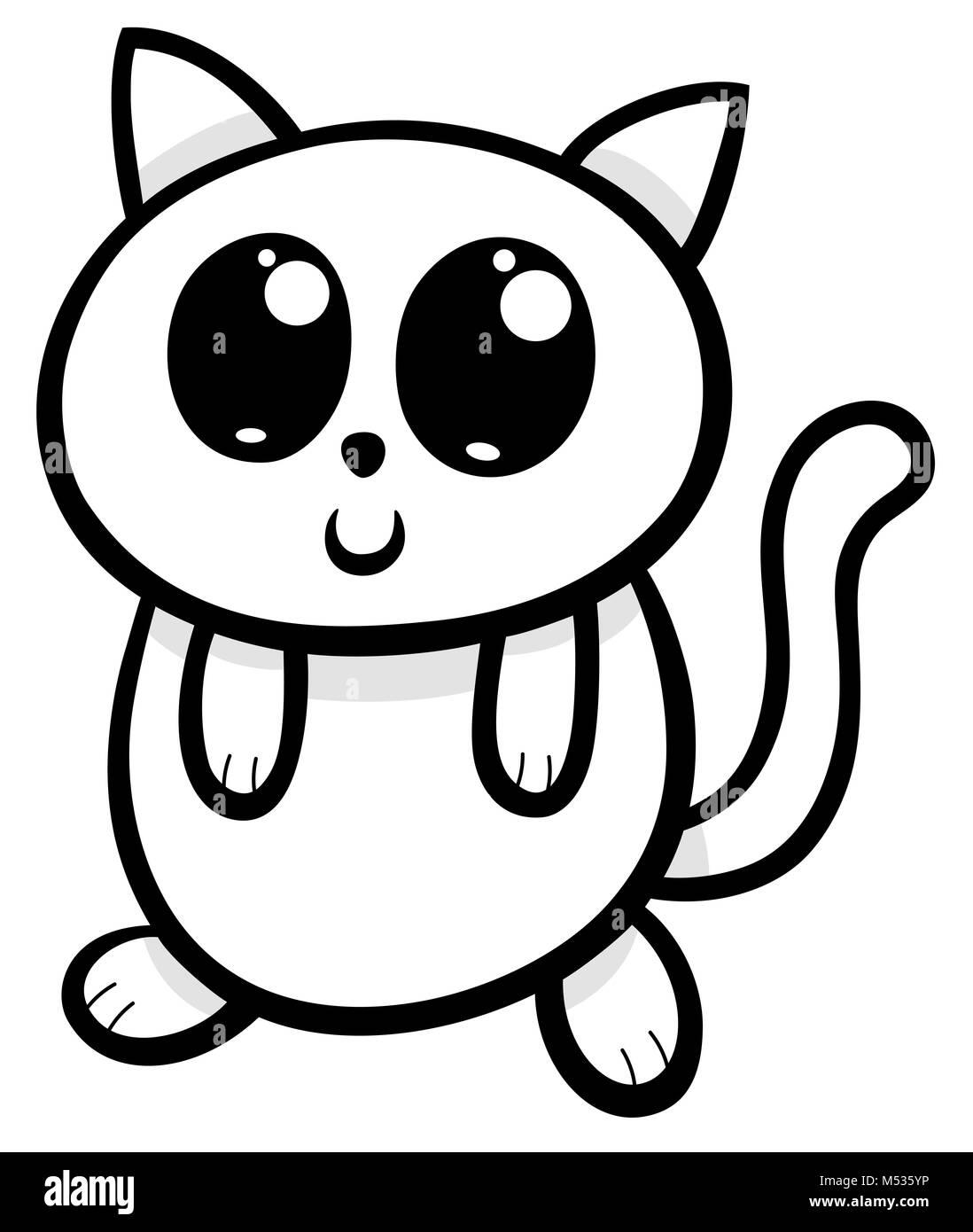 Kawaii Kitten Art Immagini Kawaii Kitten Art Fotos Stock Alamy