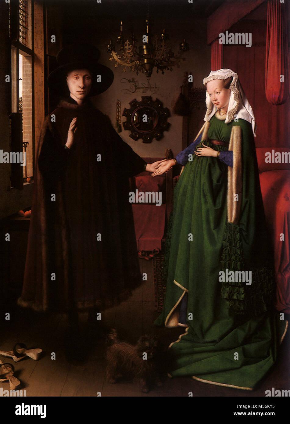 Il matrimonio di Giovanni Arnolfini,l' Immagini Stock