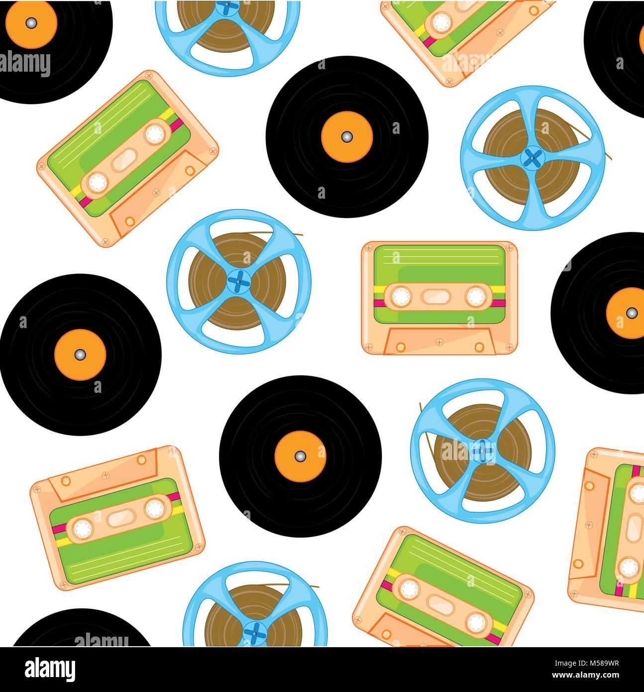 Vettori di musica obsoleto Immagini Stock