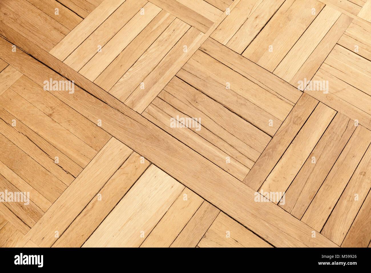 Legno di quercia parquet con quadrato geometrico piastrelle