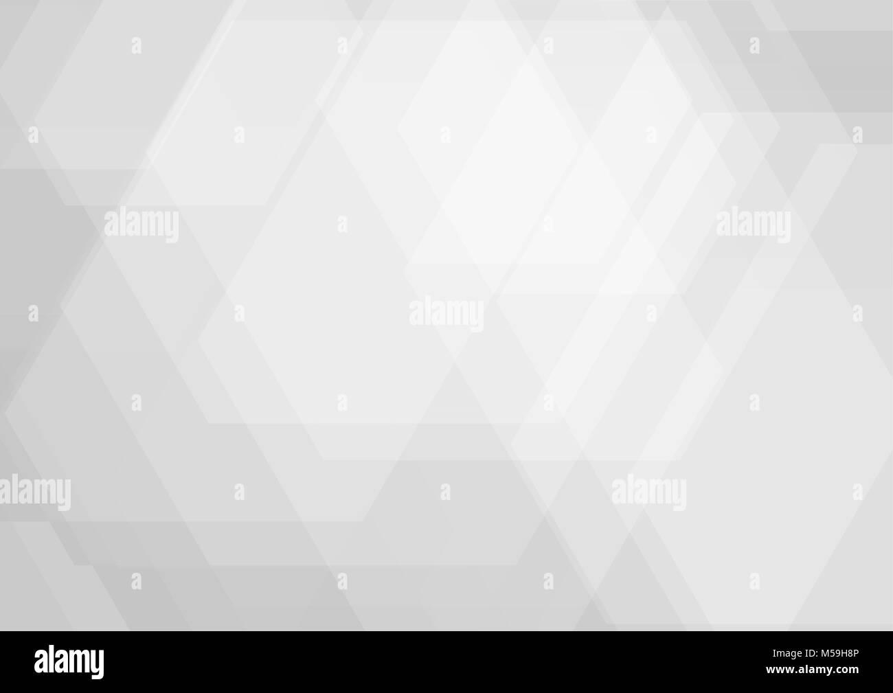 Geometrica astratta colore bianco e grigio design moderno sfondo, illustrazione vettoriale Immagini Stock
