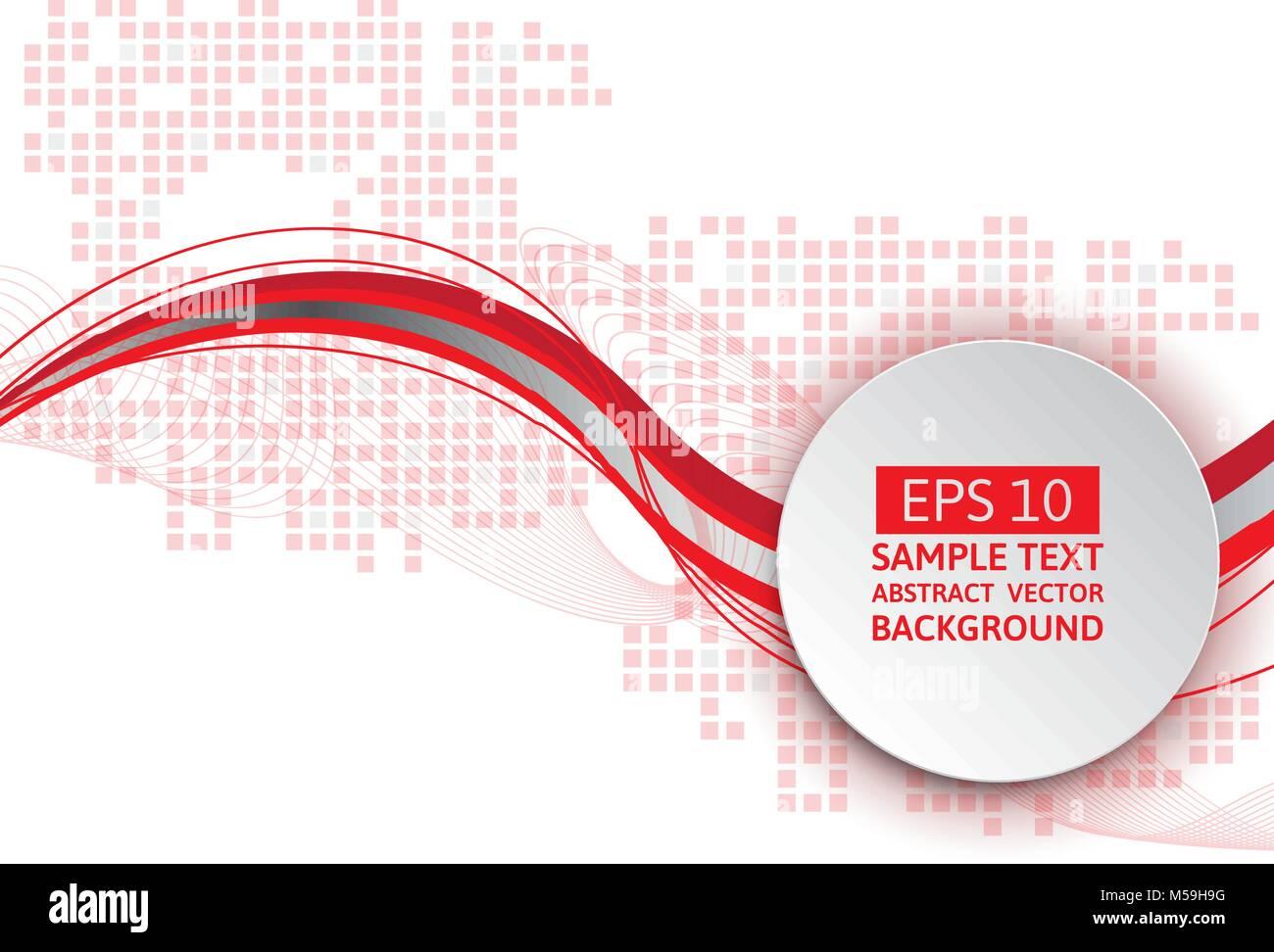 Onda rossa astratto sfondo vettoriale, Graphic Design Immagini Stock