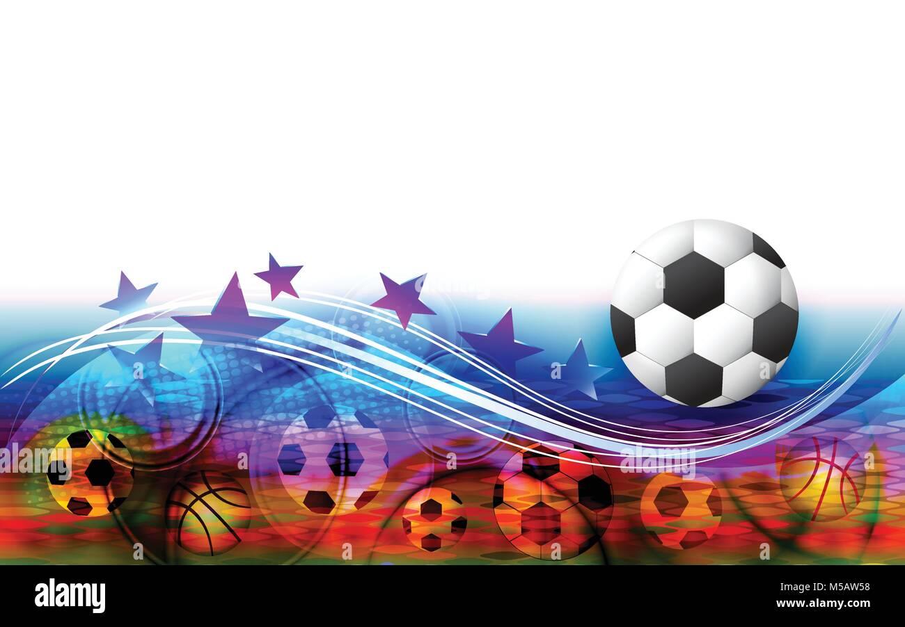 Abstract Sfondo Sport Con Pallone Da Calcio Campo Di Calcio