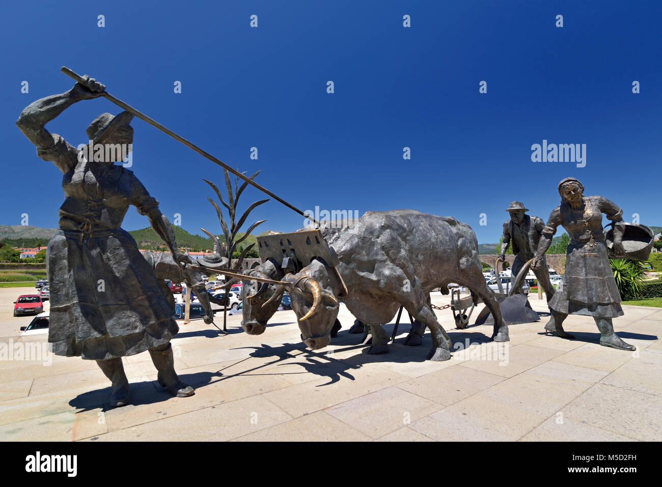 Monumento per la popolazione rurale di Ponte de Lima Immagini Stock