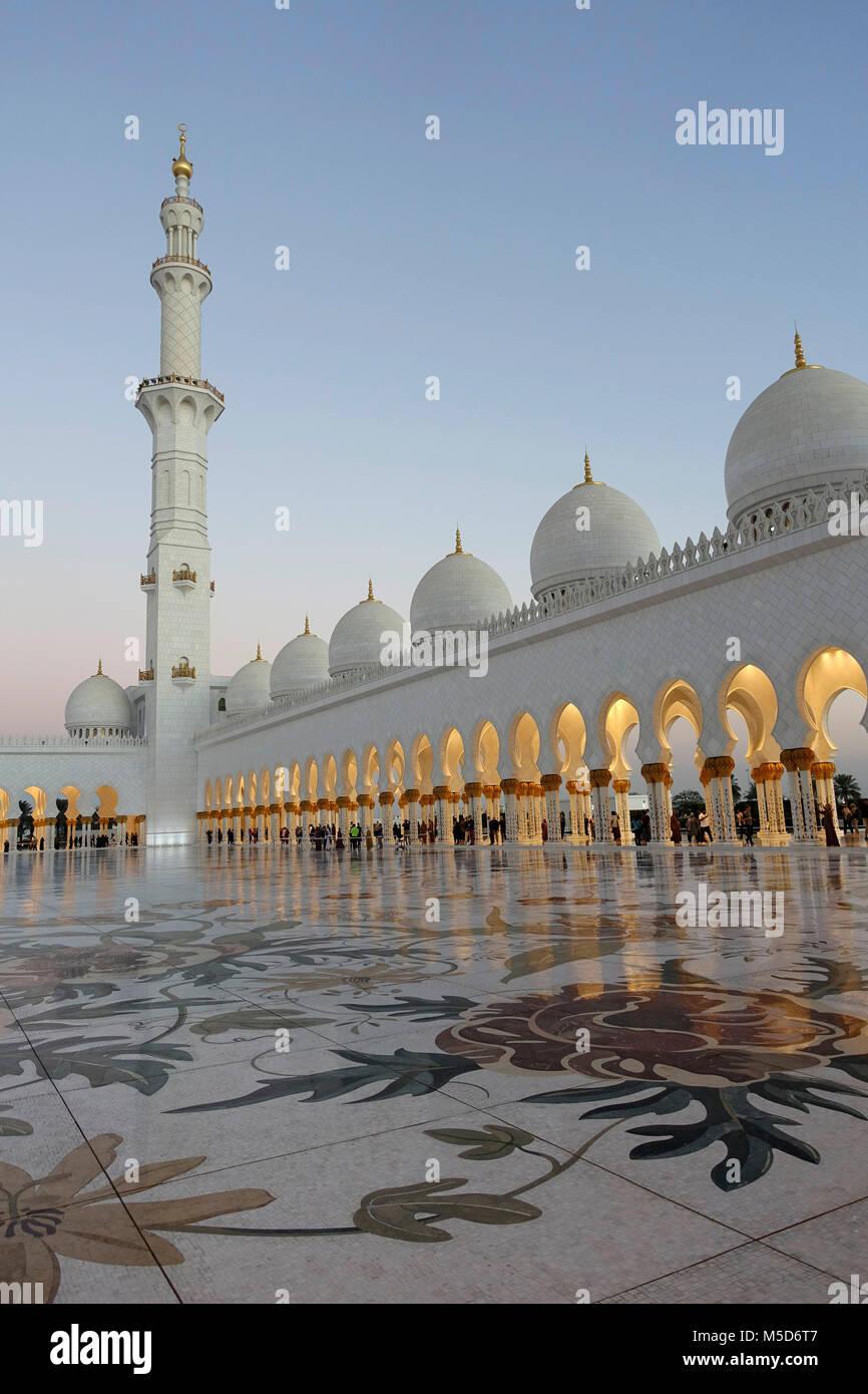 Moschea Sheikh Zayed, Abu Dhabi, Emirati Arabi Uniti Immagini Stock