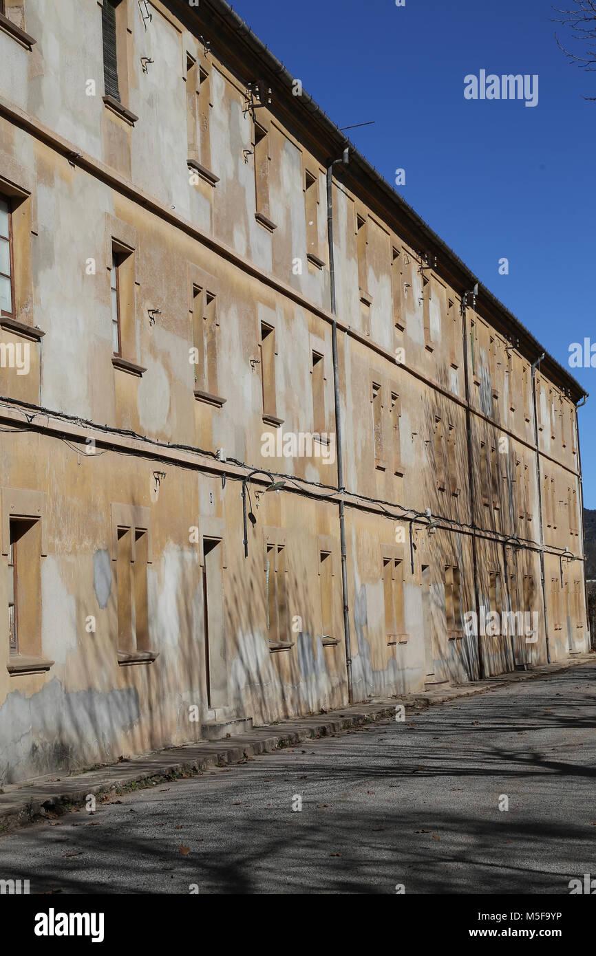 In Spagna, in Catalogna, Puig-Reig. Può Vidal. Industriali tessili di colonia. 1901-1980. Alloggiamento dei Immagini Stock