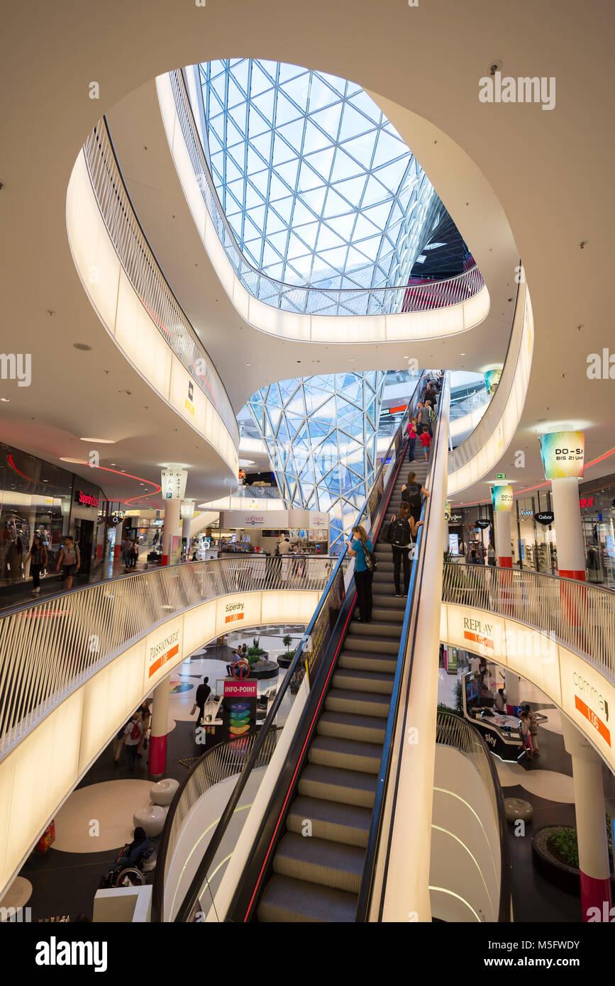 Il mio Zeil, Shoppingcentre, Francoforte, Assia, Deutschland, Europa Immagini Stock