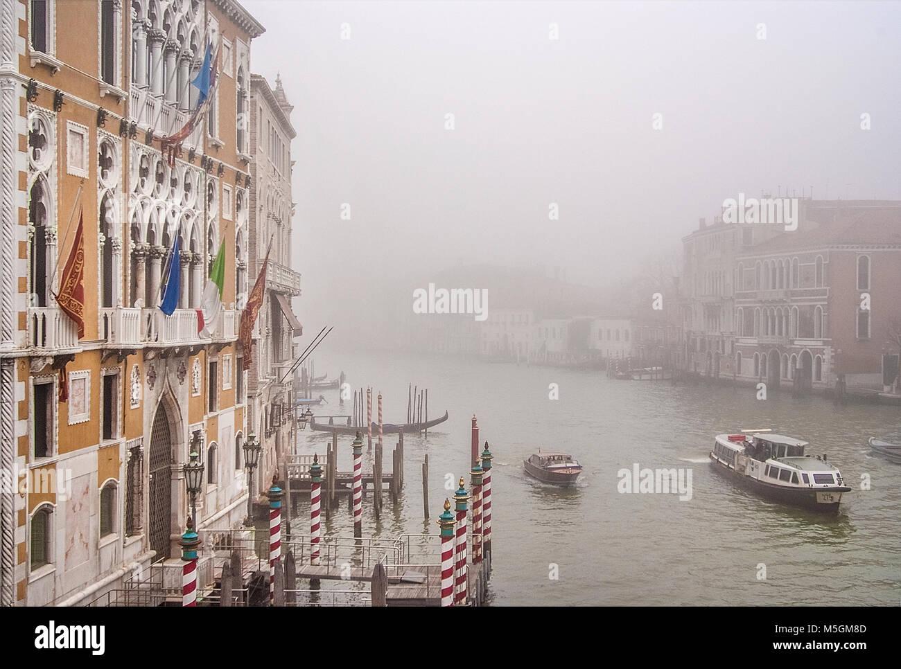 Venezia,Gran Vista Canale Immagini Stock