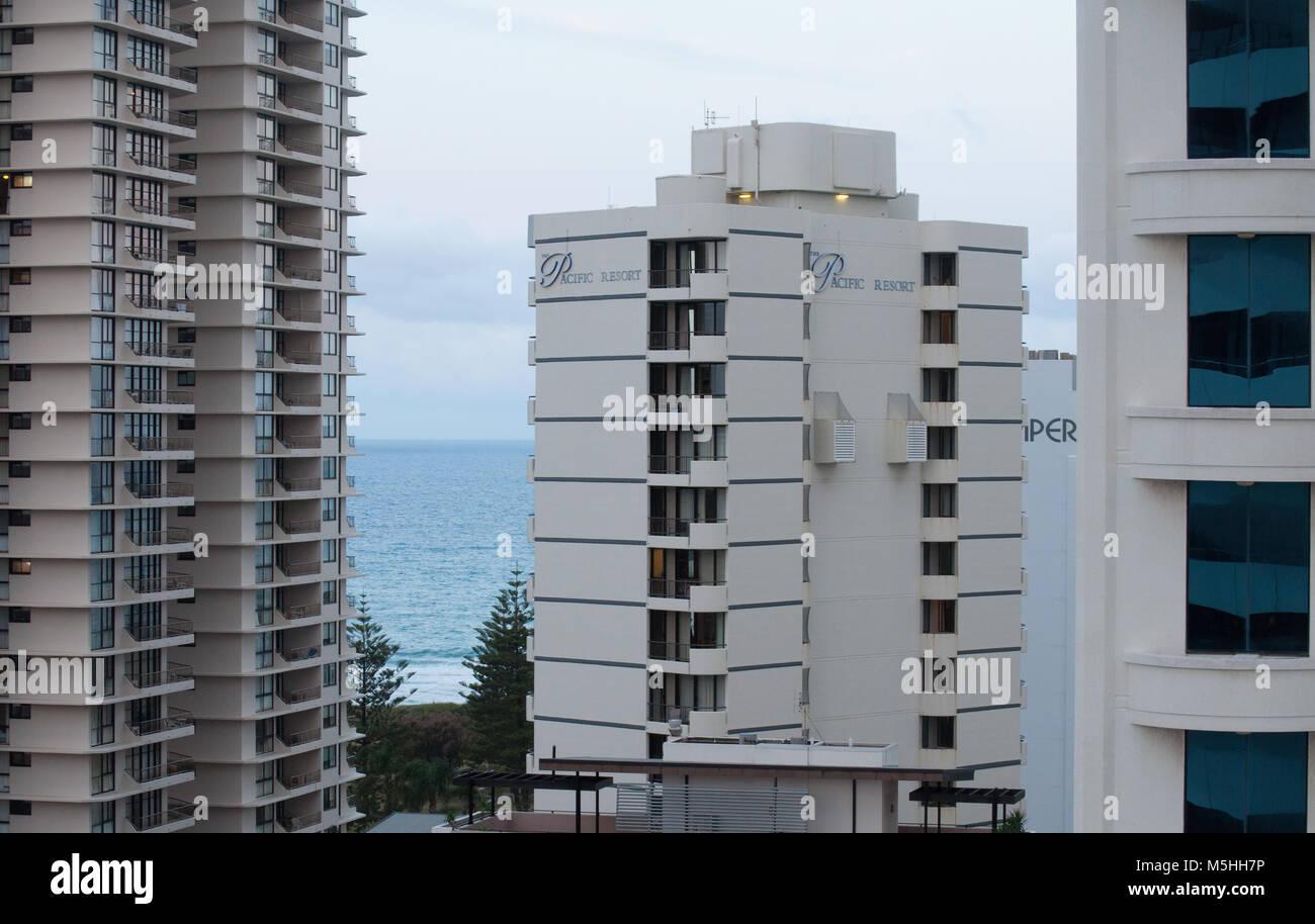 Broadbeach edifici di appartamenti Immagini Stock