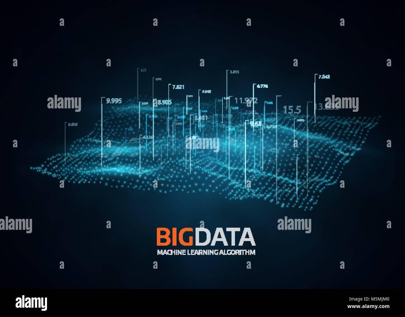 Grande per la visualizzazione di dati. Vettore futuristica dello sfondo. Immagini Stock