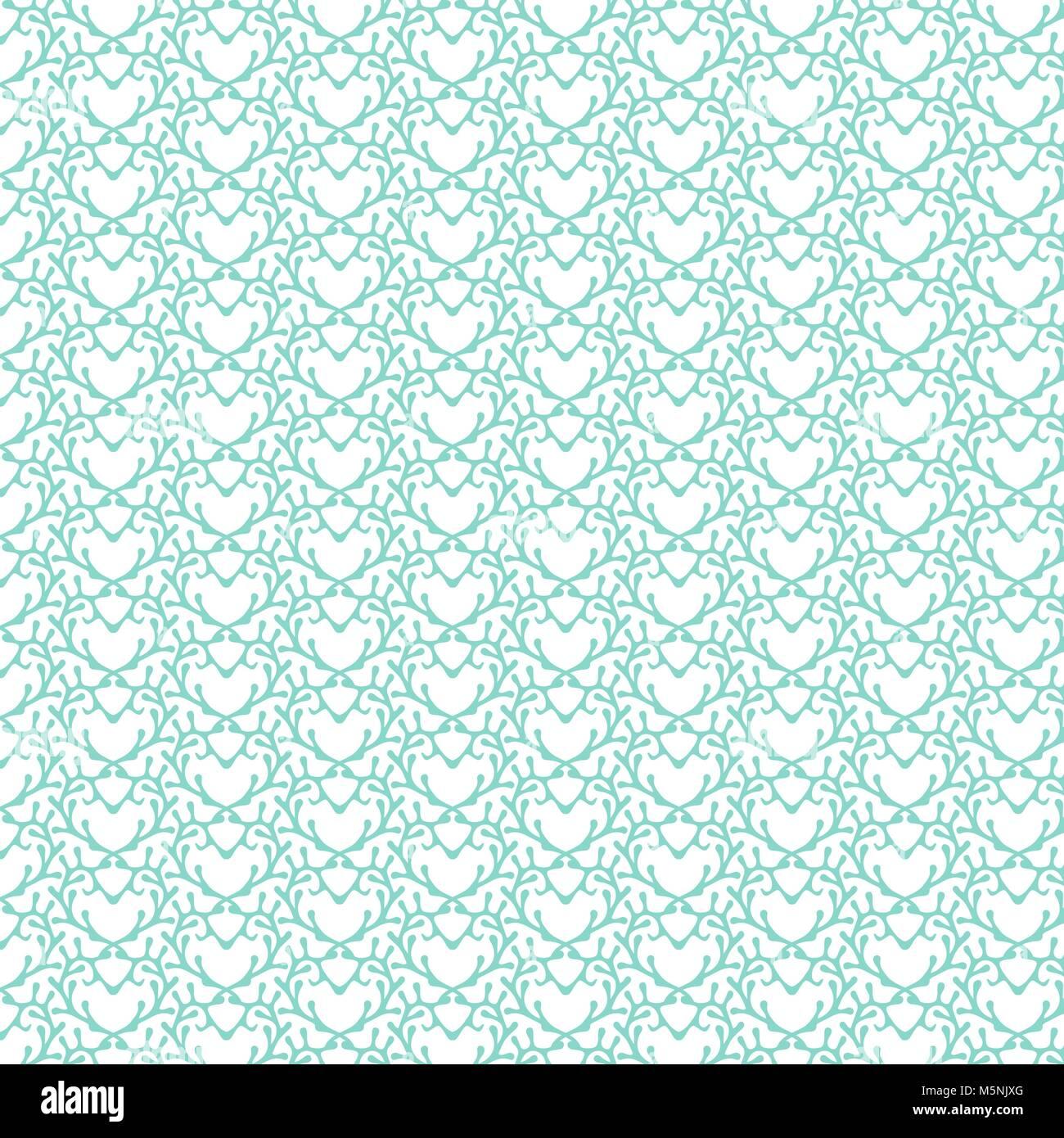 Disegnata a mano ornamenti, blu turchese sfondo astratto, fiori astratta disegnata a mano Immagini Stock