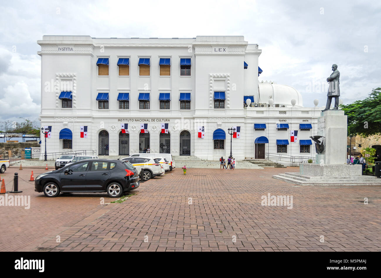 Panama City, Panama - 3 Novembre 2017: Istituto Nazionale di Cultura (Instituto national de Cultura) nel quartiere Immagini Stock