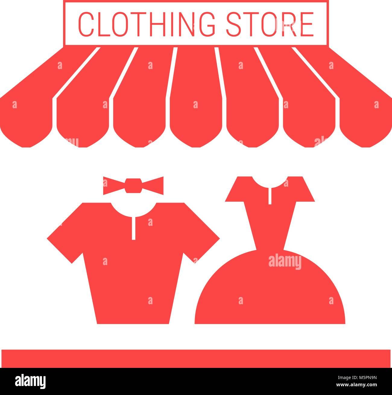 newest collection 29580 be214 Negozio di abbigliamento, merceria Shop unico piatto a icona ...