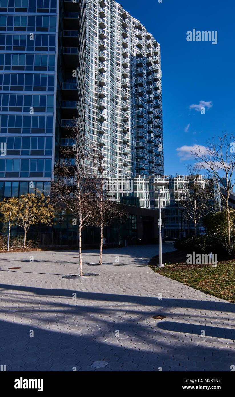 Stato del gantry Plaza in una soleggiata New York City giorno Immagini Stock