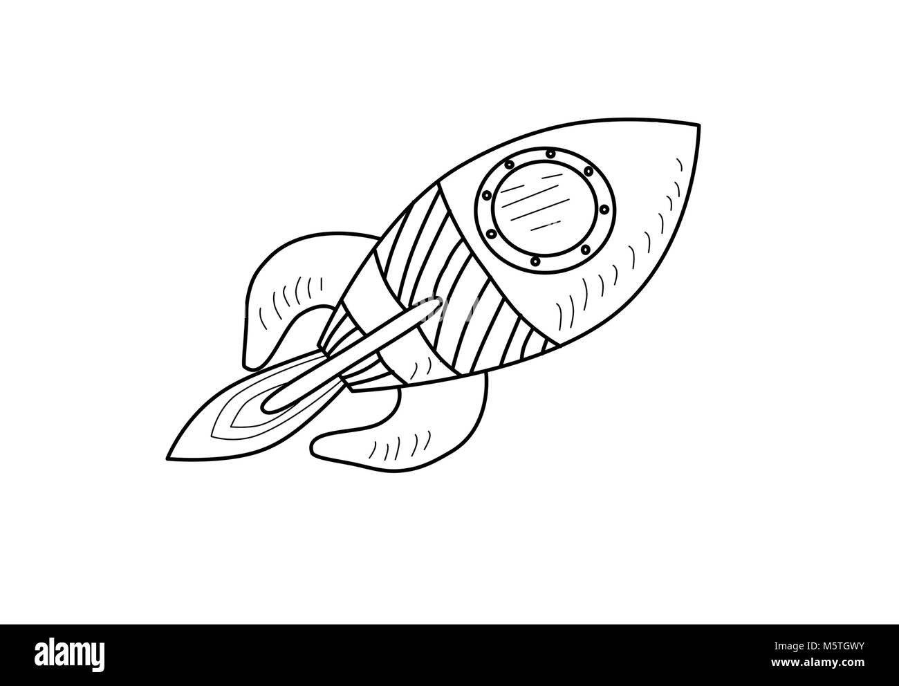 Cartoon carino Rocket illustrazione Immagini Stock