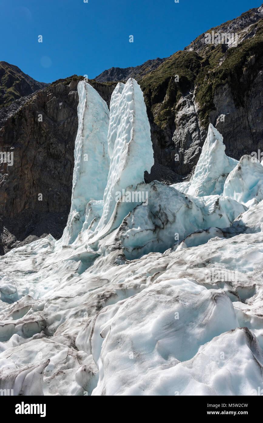Franz Joseph Glacier, Isola del Sud, Nuova Zelanda Immagini Stock
