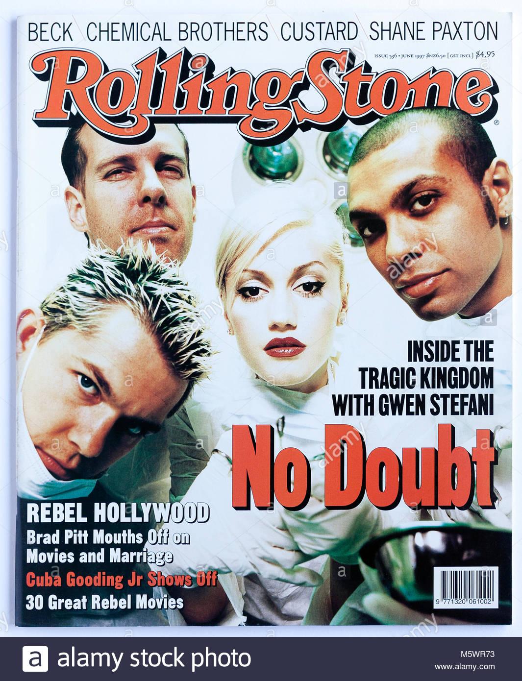 La copertina della rivista Rolling Stone, numero 536, senza dubbio Immagini Stock