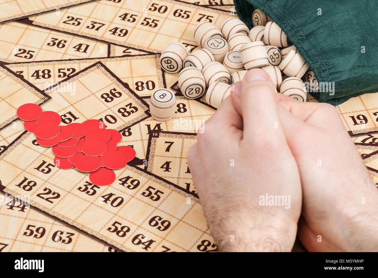 Lotto gioco di bordo Immagini Stock