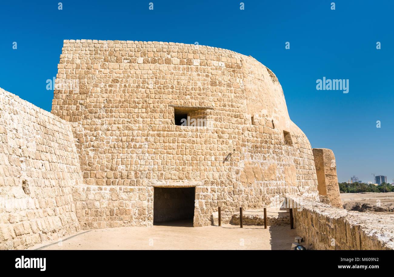 Bahrain Fort o Qal'at al-Bahrain. Un sito Patrimonio Mondiale dell'UNESCO Immagini Stock