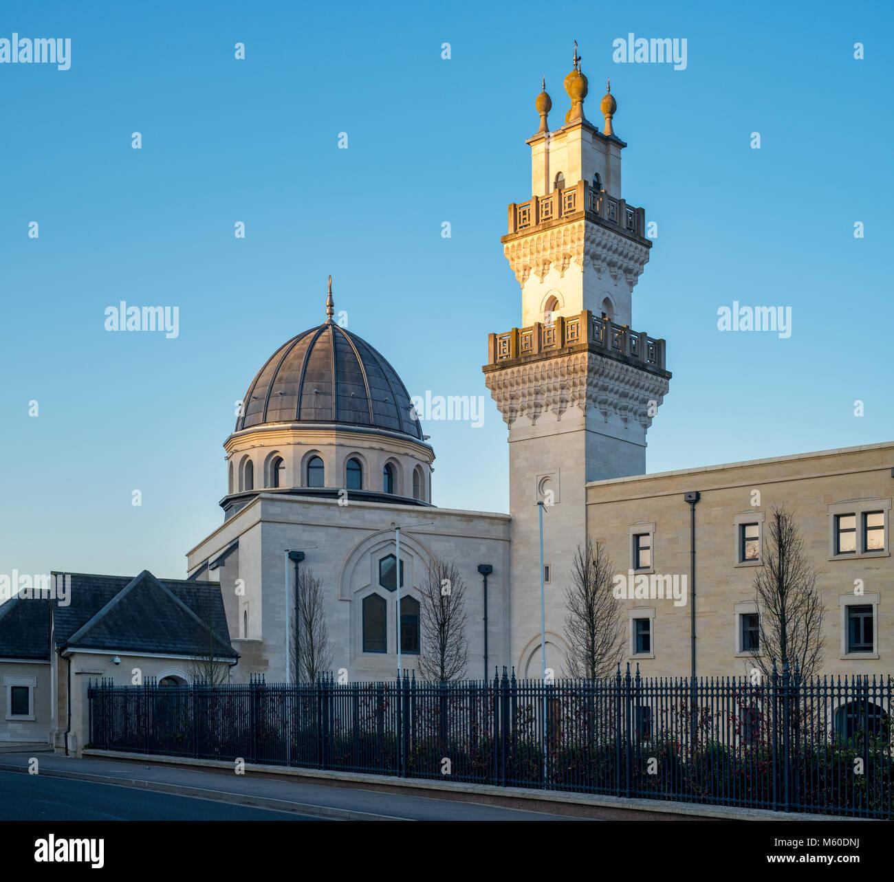 Luce del sole di mattina sull'l'Oxford Centre for Islamic Studies. Oxford, Inghilterra Foto Stock