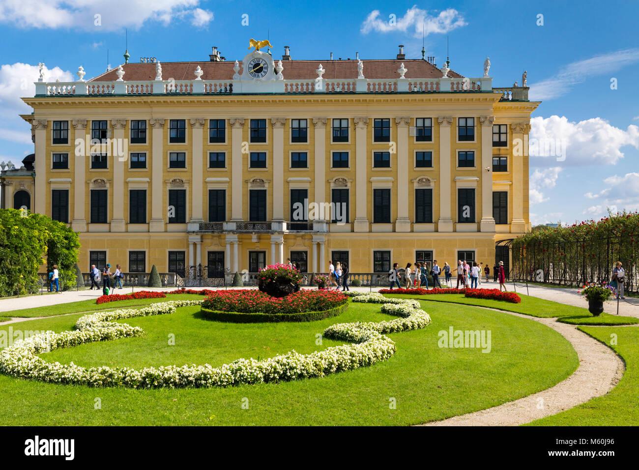 Il Palazzo di Schönbrunn giardini, Schonbrunn, Vienna, Austria. Immagini Stock