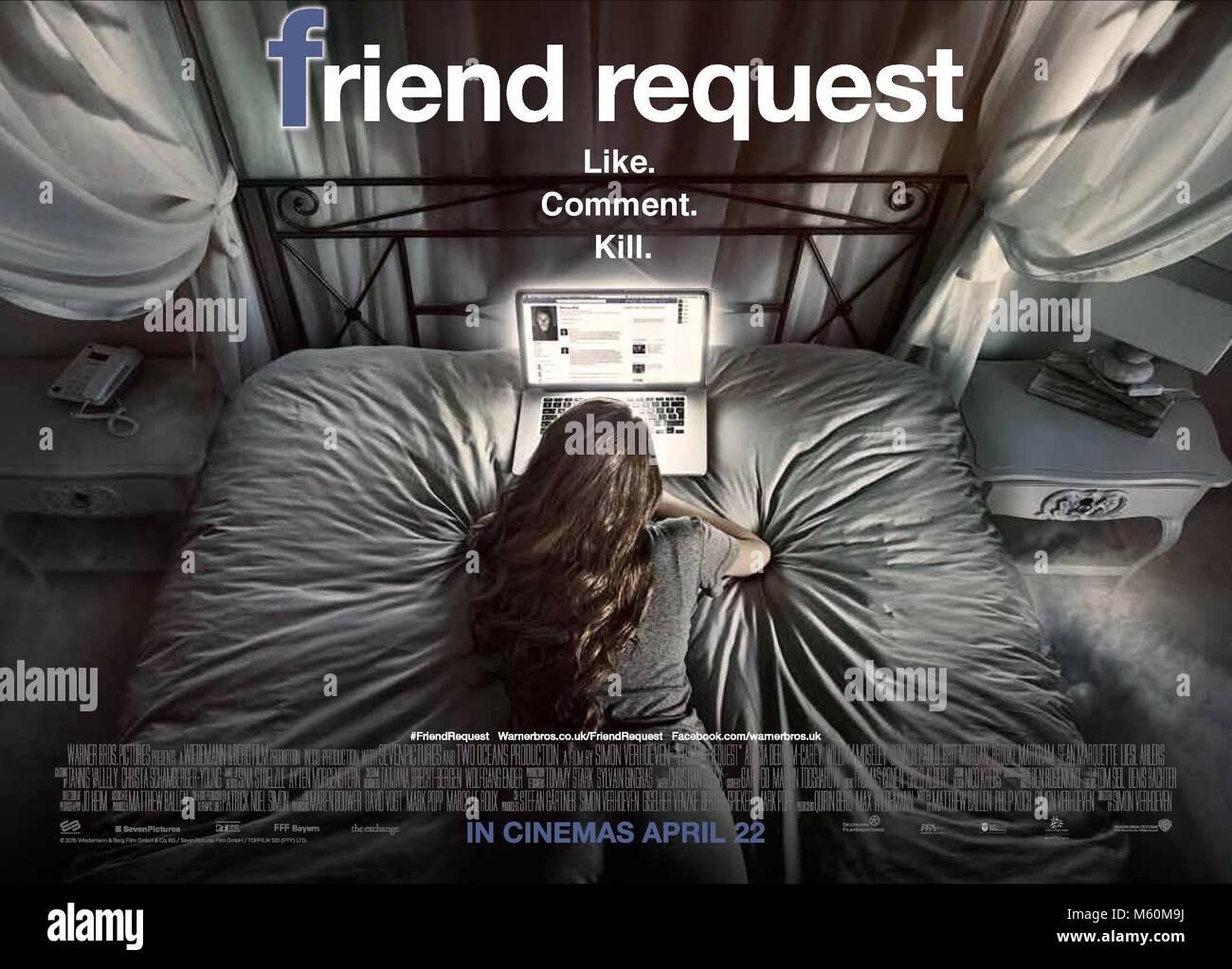 POSTER richiesta di amicizia (2016) Immagini Stock