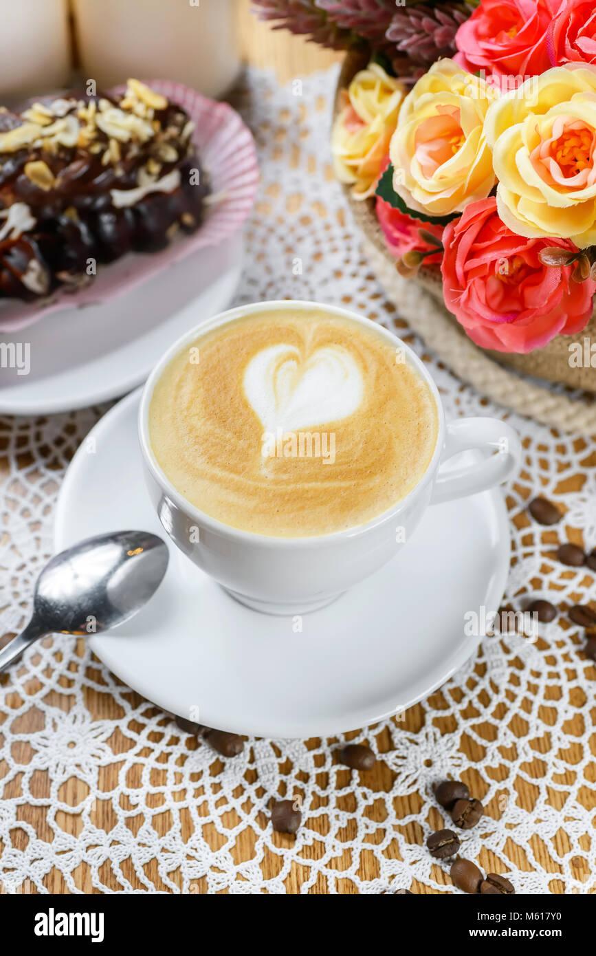 Tazza di Cappuccino Foto Stock