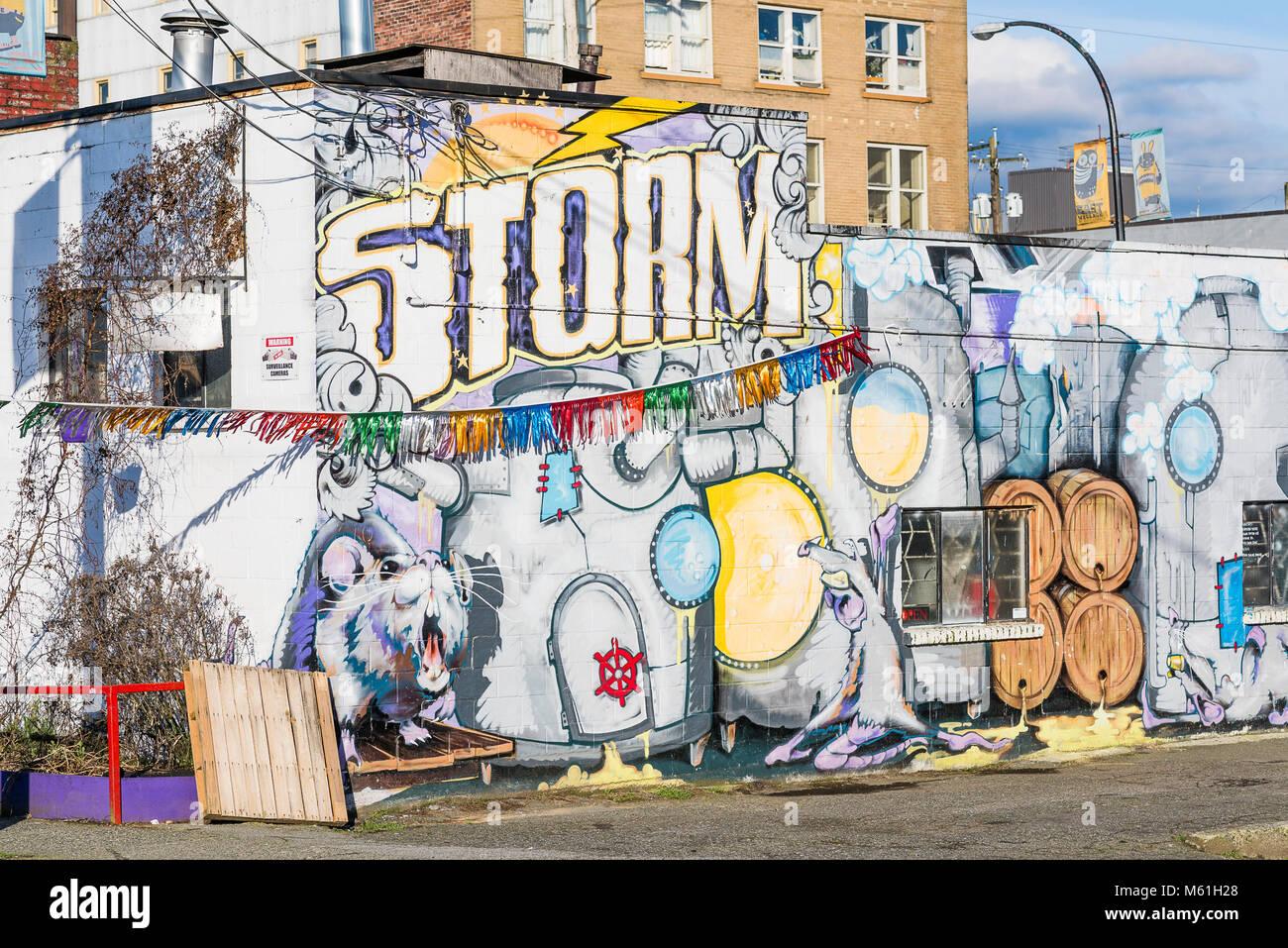 Storm Brewing Company, Unità commerciale, Vancouver, British Columbia, Canada Immagini Stock