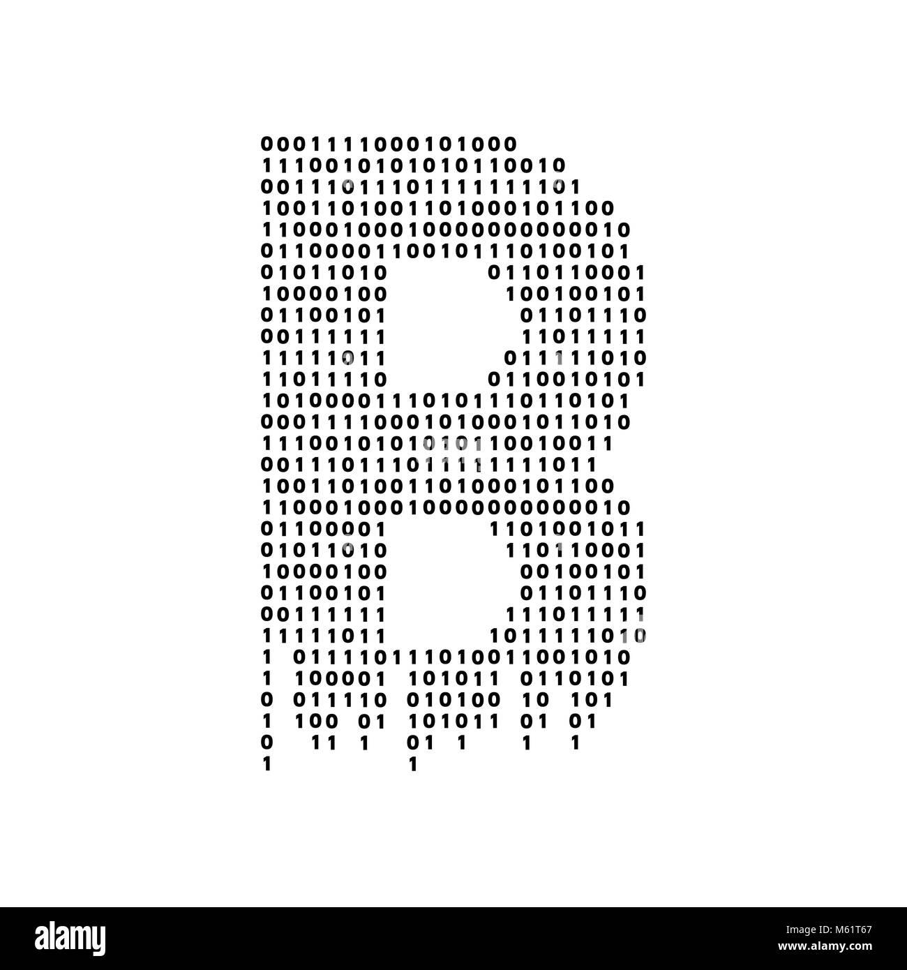 Vettore illustrazione astratta. Tecnologia Bitcoin Immagini Stock