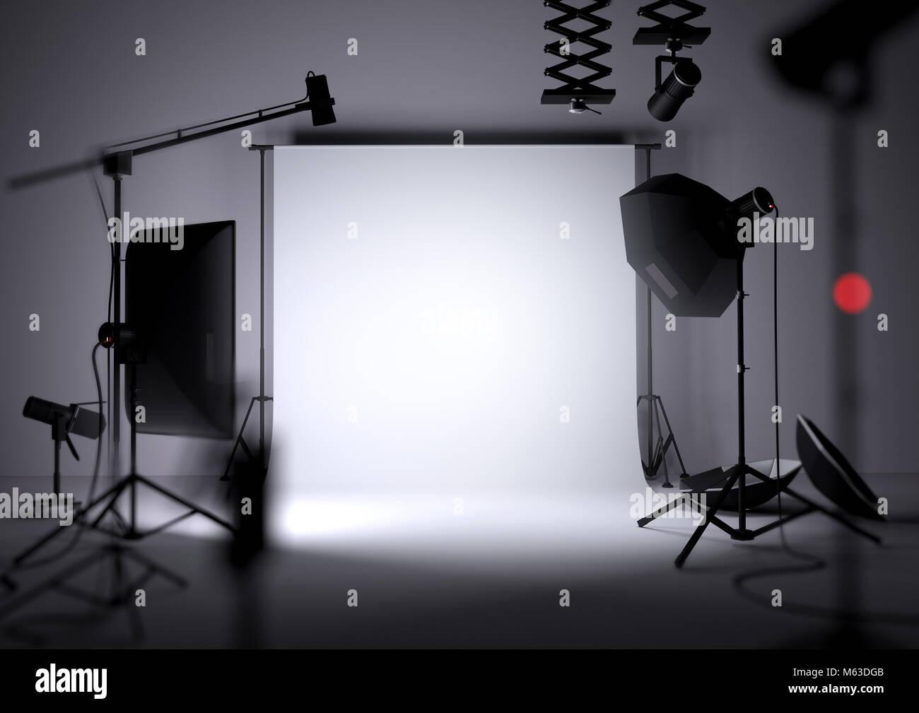 Un vuoto che la foto di sfondo per studio di fotografia con