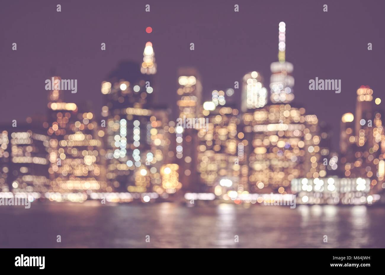 Offuscata dai toni rétro immagine della skyline di Manhattan di ...