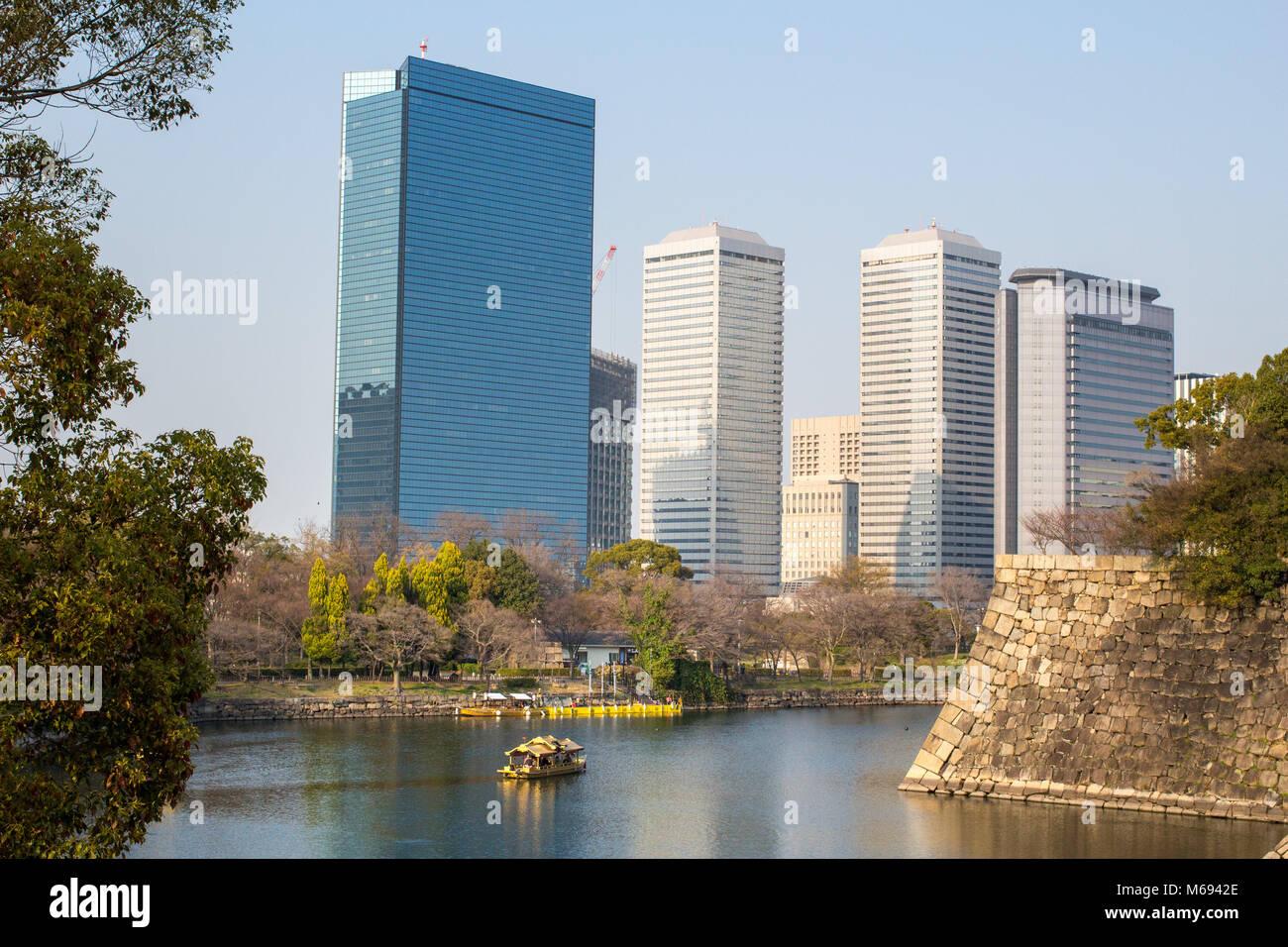 Storico castello di Osaka in Giappone Immagini Stock