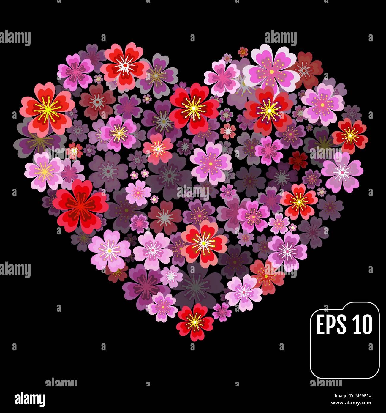 Il Giorno Di San Valentino Cuore Del Rosso E Del Rosa Primule