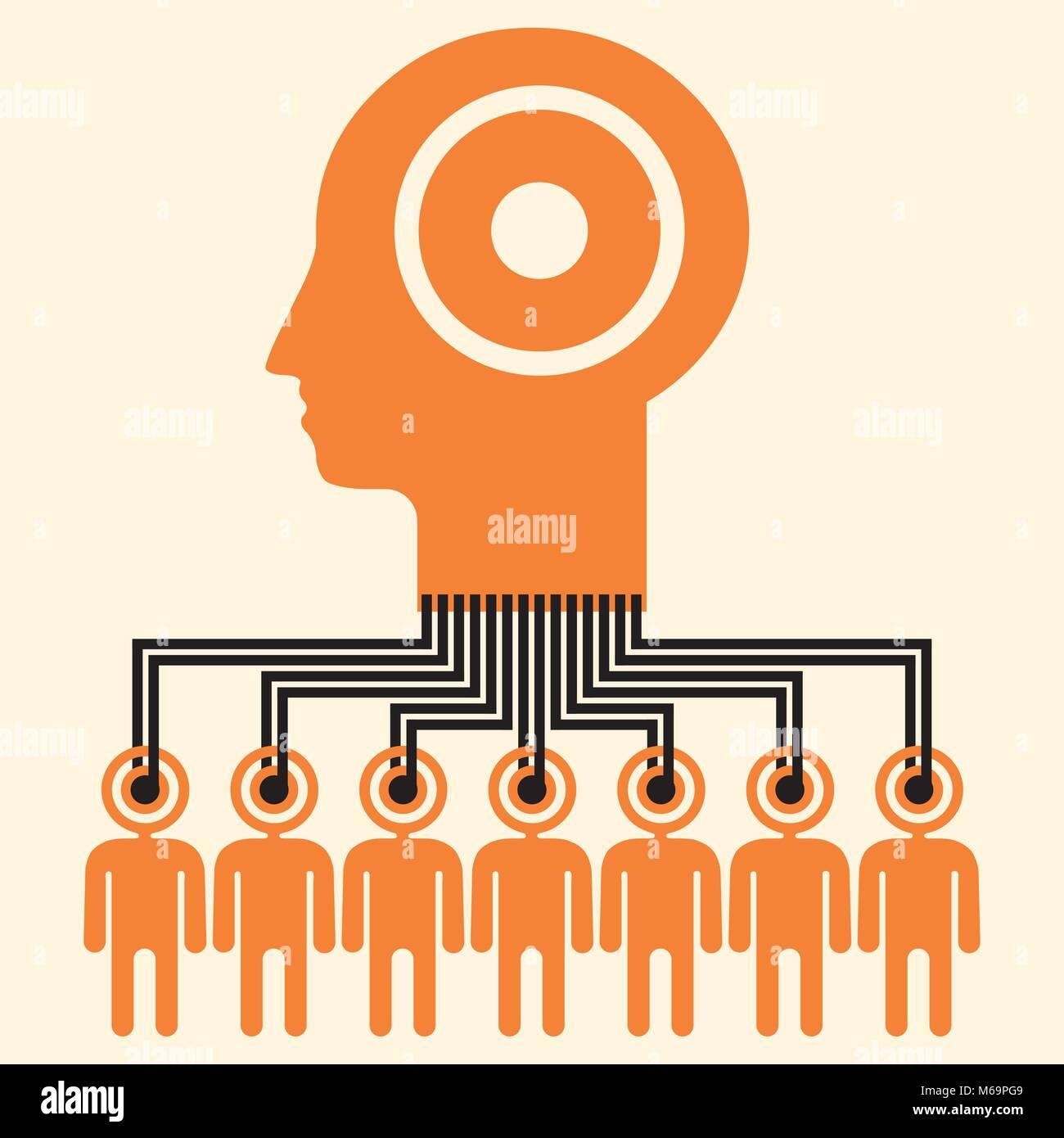 Crowdsourced sistema di intelligenza artificiale grafico Immagini Stock