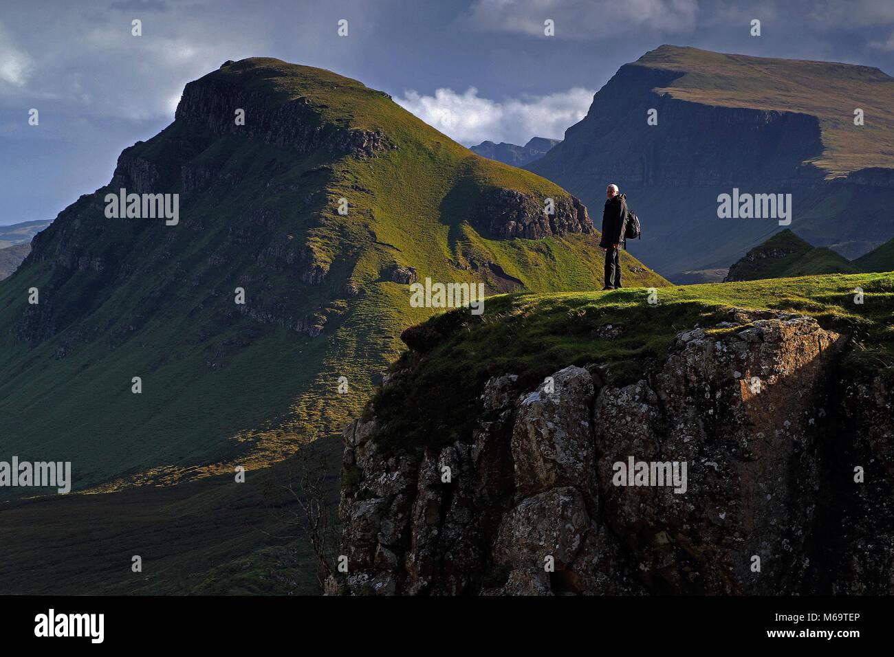 La Scozia, Grossbritannien, Europa, Isola di Skye, la Quiraing, Immagini Stock