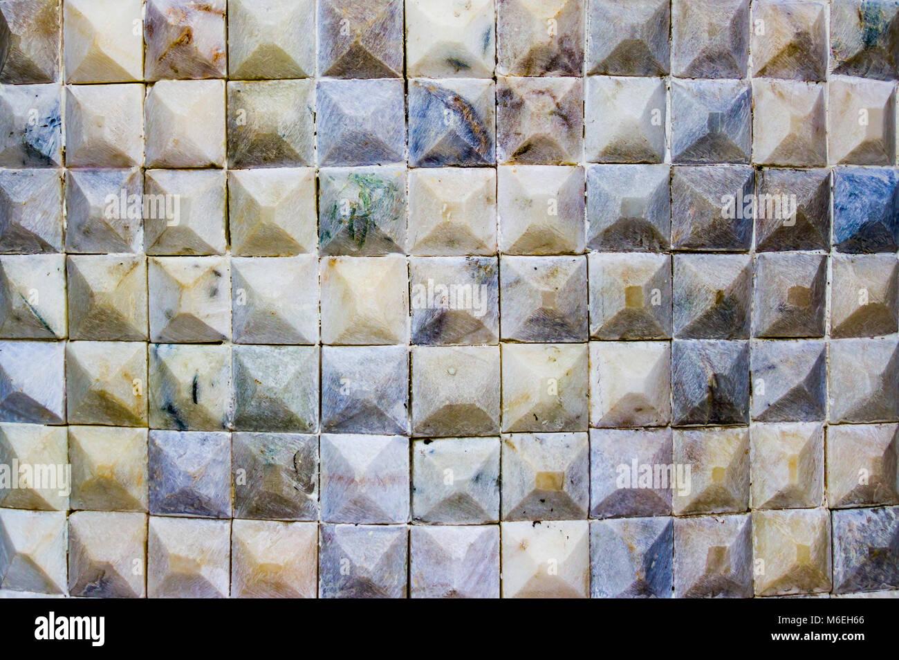 Piccolo mosaico di marmo piastrelle di pietra foto immagine
